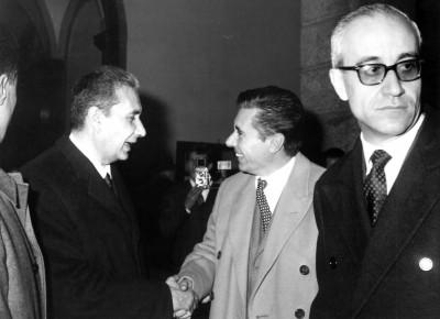 Einweihungsfeier vom 23. Mai 1964 in Anwesenheit vom Premierminister Aldo Moro.